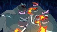 S2e08a girl yeti as sneezy blowing out fire