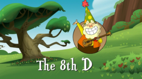 The 8th D title card