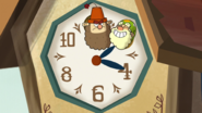 7d theme - grumpy and happy on clock