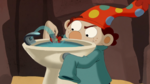 S2e19b dopey dipping his flower into the fountain