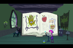 S1e03a Hildy Consults the Book of Spells and Crystal to Change Grim Back 6