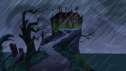 S1e17a overiew of mansion, raining