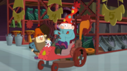 S1e19b Dopey and Sir Yipsalot on a Lawn Mower