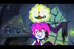 S1e03a Hildy Consults the Book of Spells and Crystal to Change Grim Back 2