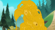 S2e01a melted cheese statue