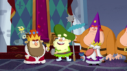 S2e20a '...and king grumpy will drink the gnome kingdom's frog grog.'