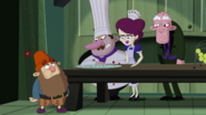 S2e10a grumpy eating all the cheese and crackers