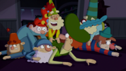 S1e17a happy says he ran because it's fun