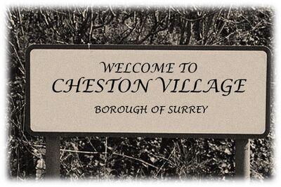 Cheston Village Road Sign (Circa 1926)