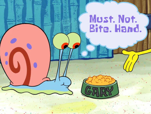 Image Spongebob if gary could talk 9jpg THE ADVENTURES OF GARY