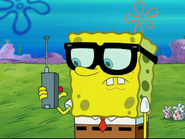 SpongeBob With Glasses at Jellyfish Fields
