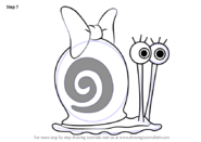 How-to-draw-Snellie-the-Snail-from-SpongeBob-SquarePants-step-7