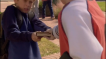 Linus and Max fighting over the journal