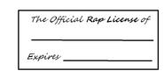 Rap License Template