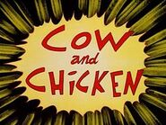 Cow and chicken logo