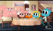 The wattersons at a table