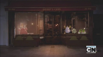 The exterior of Dump's Cave.