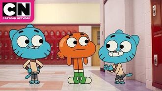 The Amazing World of Gumball Clayton Shapeshifts into Gumball Cartoon Network