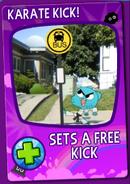 Karate Kick Card