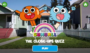 Close Up Quiz Title Screen