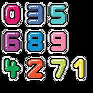 Font combonumbers-hd