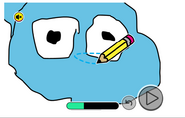 Drawing Gumball's head