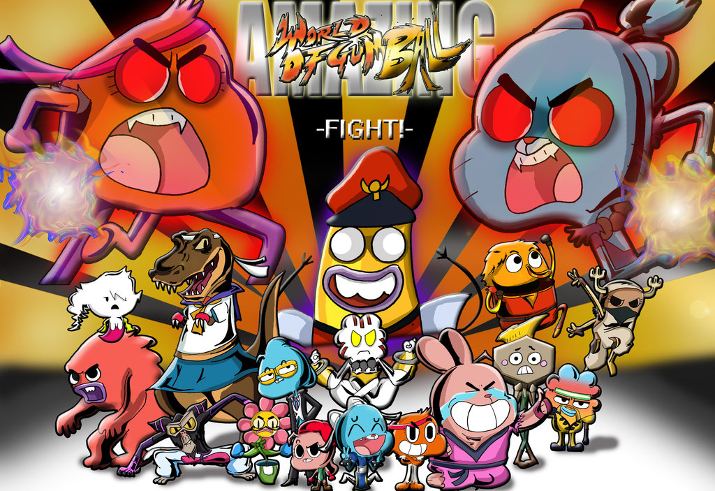 image amazing world of gumball super street fighter 4 by