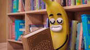 Bananaman with book