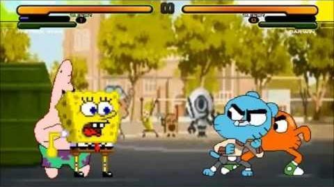 Video - M U G E N Battle Spongebob & Patrick vs  Gumball