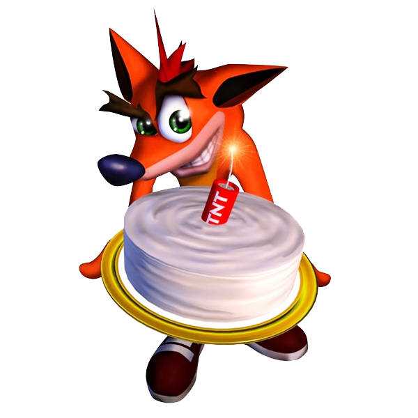 Image Crash Bandicoot Birthday Cake Render Png By Jerimiahisaiah