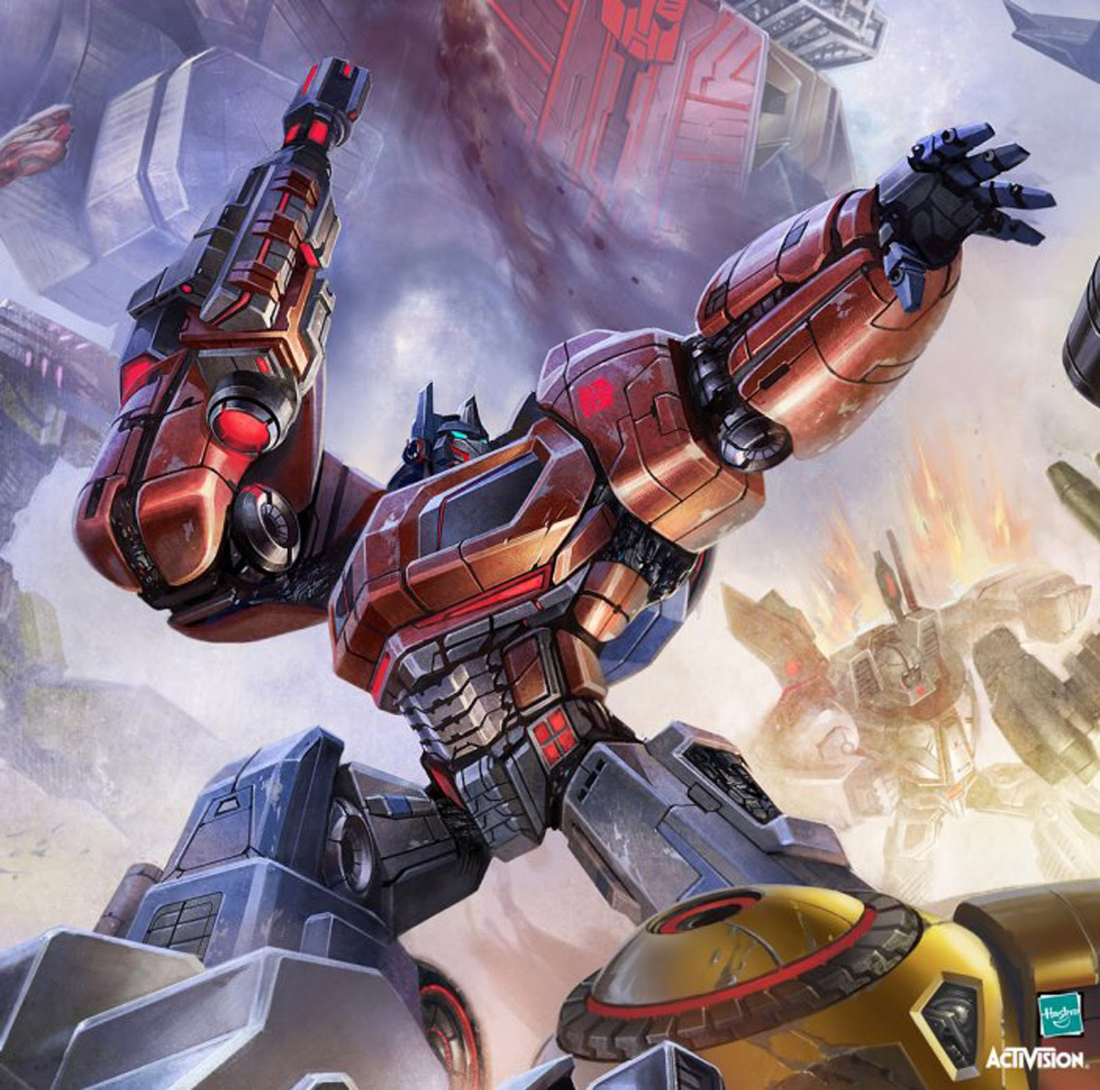 image - optimus prime fall of cybertron video game aaron limonick