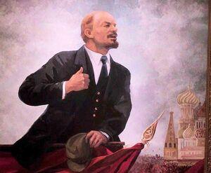 Lenin painting