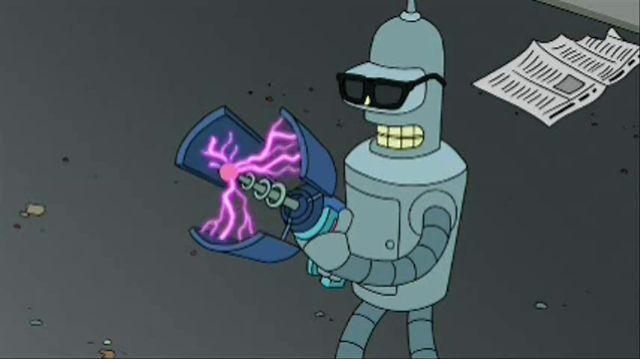 Bender Attacks Queen of Hearts