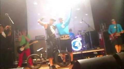 The Aquabats! Live in San Diego 7 18 2013 Part 18 - Poppin' a Wheelie!