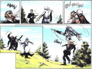 Desmond ataca a agentes templarios