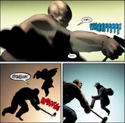 El Cruz Negra pelea contra Cuervo Feroz
