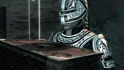 Ezio posing a guard (2)