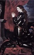 Juana de Arco rezando