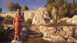 Estatua de Deméter y Kore