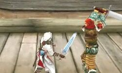Altaïr utilizando la espada de adha