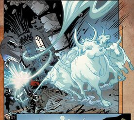 Ignacio sostiene el Koh-i-Noor mientras se destruye