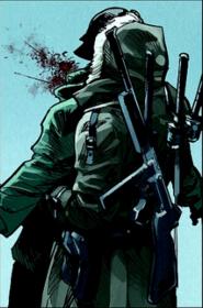Eddie matando a un soldado