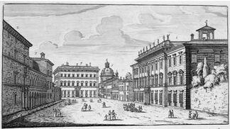 Piazza dei Santi Apostoli, Rome 1665