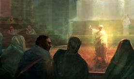 Julio César en el Senado