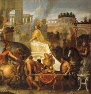 Entrada de Alejandro en Babilonia, Charles Le Brun