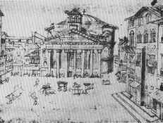 Pantheon Rome miniature XV