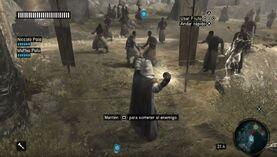 Altaïr combatiendo a los mongoles con el Fruto