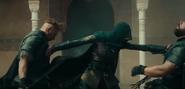 Maria matando a dos soldados