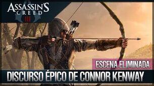 Assassin's Creed 3 - Escena Eliminada - Discurso Épico de Connor - Epílogo Forsaken en Español