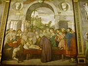 02 Francesco Vecellio (attribuzione), Sant'Antonio fa trovare il cuore dell'usuraio nel forziere